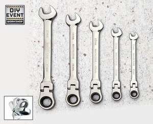 5 Piece Ratchet Spanner Set | Aldi | £9.99