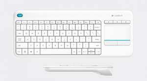 Logitech K400 plus white keyboard and touchpad wireless half price + delivery (£15.65 with unique voucher, £7.50 possible)