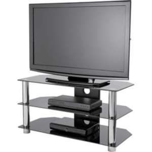 Black Glass 42 Inch Slimline TV Stand @ argos - £21.99
