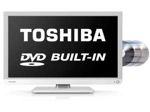 Toshiba 22D1334B 22 inch Full HD LED TV/DVD Combi - White £80.99 @ Argos