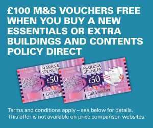 Legal and General home insurance £100 M&S vouchers code
