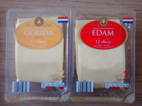 250g Edam/Gouda 12 Sliced Cheese Only £0.99 (£3.96/kg) @ Aldi