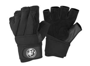 Scorpion Power Lifting Mens Weight Lifting Gloves with Long Neoprene Wrist @ Ebay UK / Elite Sports Project