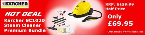 Karcher SC1020 Steam Cleaner Premium Bundle £69.95 @ Cleanstore