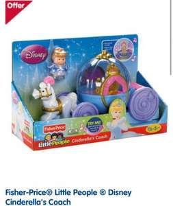 Fisher-Price® Little People ® Disney Cinderella's Coach £18.90 at  Boots - Online & Instore