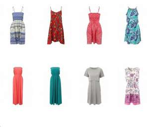 Dresses from £3.99 delivered in the Peacocks Sale