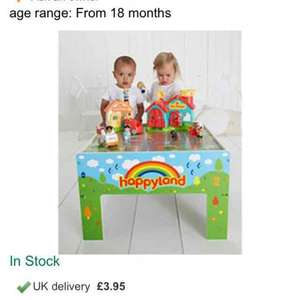Happyland wooden play table £35 @ ELC