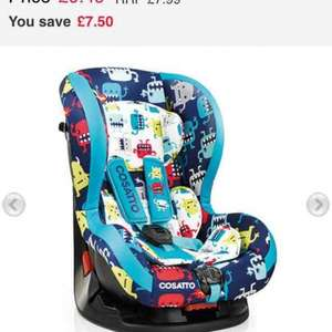 cosatto moova car seat £4.44 Delivered @ mothercare online