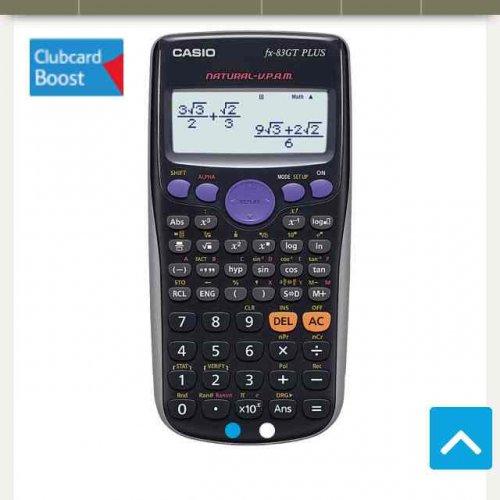 Casio Fx-83Gt Plus Scientific Calculator £4.50 in Tesco