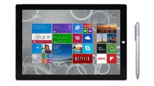 Surface Pro 3 i5 or above with free type cover worth 109.99 starting from £801 euro conversion @ Microsoft Store Ireland