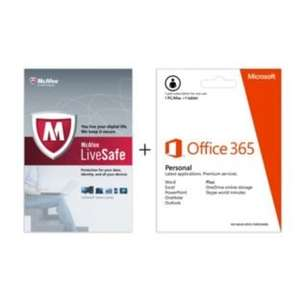 Microsoft Office 365 Personal and McAfee LiveSafe £49.99 @ Argos