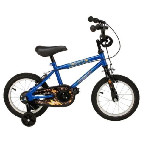 "Urban Racers Lightning 14"" Kids' Bike with Stabilisers £25 / £12.50 Clubcard Boost Tesco Direct"