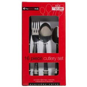 The Kitchen shop 16 piece Cutlery set £1.99 B&M