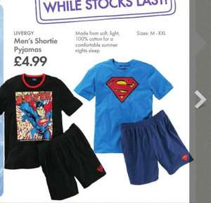 Men's Superman Pyjamas £4.99 @ Lidl
