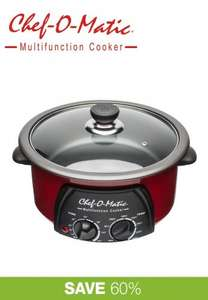 Chef-O-Matic multifunction cooker 3 litres only £19.98 delivered with code HSTV at High Street TV