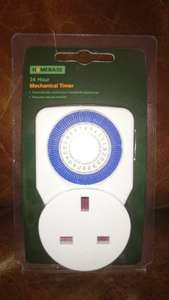 Homebase mechanical timer, great for holidays, reduced from £2.93 to 93p instore