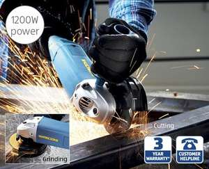 1200w Angle Grinder with 3 Year Warranty £19.99 @ Aldi from the 23rd Aug