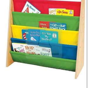 KiddyPlay KiddyPlay Wooden Book Storage Rack - Primary Colours £13.94 delivered @ Amazon sold by  sold by net_price_direct.