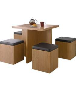 hygena boston spacesaver table and 4 chairs £59.93 @ Homebase