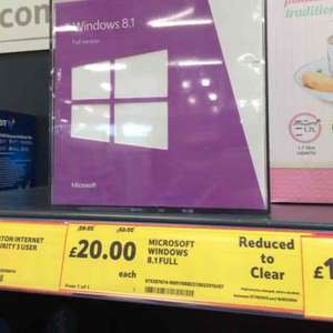 Windows 8.1 Full Version £20 @ Tesco (Lockerbie Road Dumfries)