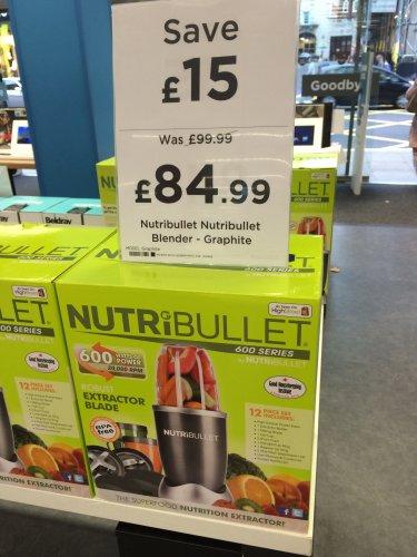 Nutribullet Blender - Graphite £84.99 @ Currys