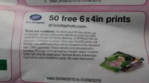 99P FOR 50 X 6X4 PHOTOS Delivered At Boots Photo