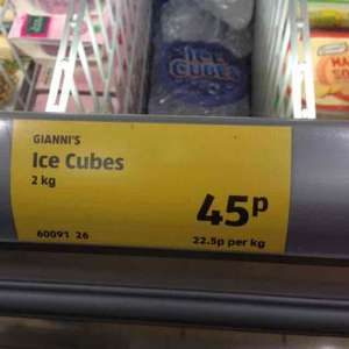 Aldi 2kg ice cubes 49p national offer!
