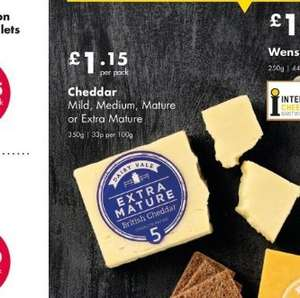 Mild, Medium, Mature and Extra Mature Dairy Vale Cheese (350g) - £1.15 at Netto