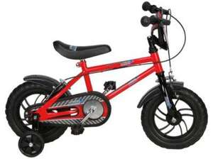 "** Urban Racers 12"" Kids' Bike with Stabilisers now £25.00 or £12.50 Clubcard Boost @ Tesco Direct (Free CnC) **"