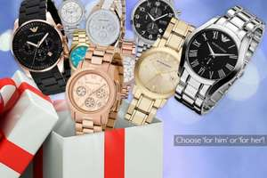 Mystery his or hers watch deal WOWCHER £10 + £3.99 postage (£13.99) Burberry, Armani, Hugo Boss, Michael Kors and more AND 1,000 CLUB POINTS