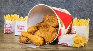 Join kfc rewards loyalty scheme and get £9.99 10 piece bargain bucket (10 pieces chicken and 4 fries/sides
