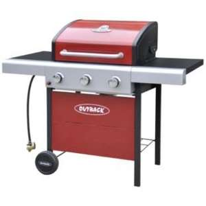 Outback Apollo 3 Burner Gas BBQ - Red £139.99 Argos