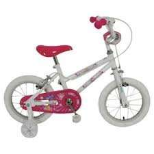 "Sparkle & Glitz Daisy 14"" Kids' Bike with Stabilisers Read £30 @ Tesco Direct"