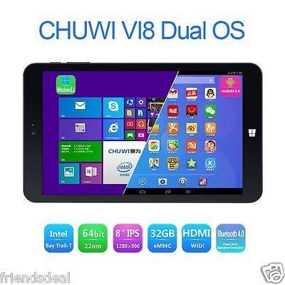 "8"" Dual OS Tablet (Android 4.4+Win8.1) Intel Quad, 2Gb, 32Gb - £88.88 @eBay (friendsdeal)"