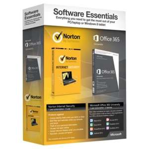MS OFFICE 365 UNIVERSITY 4 YEARS & NORTON INTERNET SECURITY 1 YEAR £19 @ Tesco (Sudbury)