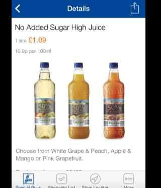 No Added Sugar High Juice - £1.09 at Aldi