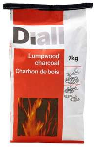 B&Q Lumpwood Charcoal, 7kg for £5 or 2 bags for £8.