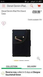 Ipad mini diesel denim case RRP £45+ NOW £11.00 @ Tesco  Maryhill (plus others)