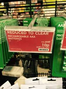 M&S AAA Rechargeable batteries (was £7 now 10p!!!)