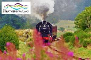 £7 instead of £14 for one whole line adult return ticket on The Strathspey Railway from Aviemore or £18 instead of £36 for a family of up to five from Itison