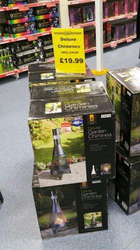 Deluxe garden chimenea £19.99 @ B&M