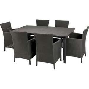 Iowa Rattan Effect 6 Seater Patio Set - Grey - Argos £169.99
