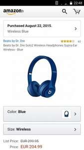 Beats solo 2 wireless. £158 including delivery @ Amazon France