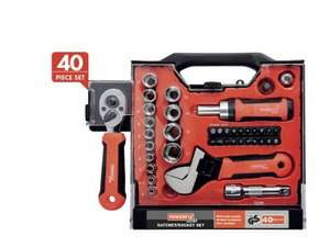 40 pcs POWERFIX Ratchet/ Socket Set- £11.99 @ Lidl 27th Aug Instore
