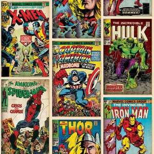 Marvel Superheroes Comic Cover Wallpaper £6 @ Wilko