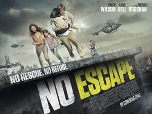 Free tickets to see No Escape at various cinemas