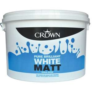 Crown Pure Brilliant White Matt Emulsion 10Ltr £1 Instore @ B&M