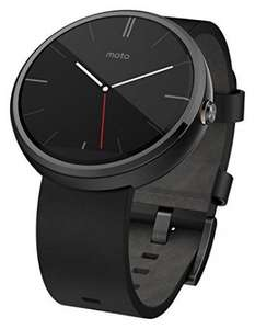 Motorola Moto 360 Smart Watch Dark Steel/Black Leather Strap £109.96 @ Buyur