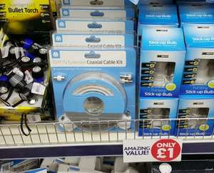 Full Coaxial Cable Kit at Poundworld £1