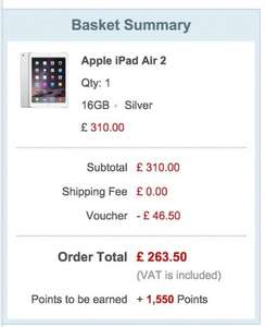 Apple iPad Air 2 16GB on Rakuten / Pixel Electronics @ £248 Only